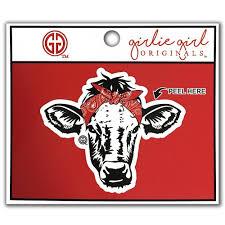 Bandana Cow Decal Red Girliegirloriginals