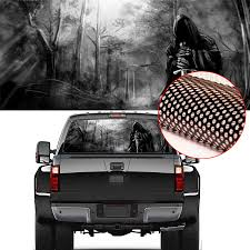 Grim Reaper Rear Wind Ow Graphic Decal Tint Sticker Truck Car Sticker Car Back Decal Vinyl 22 X 65 Car Stickers Aliexpress