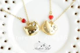 matted gold plated 3d hello kitty