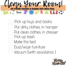 Clean Your Room Kid Friendly Simple Bedroom Clean Up Checklist Real Mom Ish