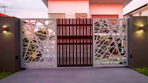 New 2018 30 Modern Main Gate Ideas Creative Front Gate Wood Steel Simple Sliding Images Photo Youtube