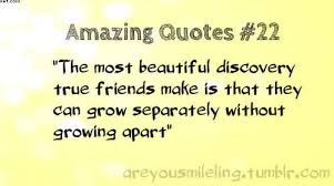 the most beautiful discovery true friends make is that they can
