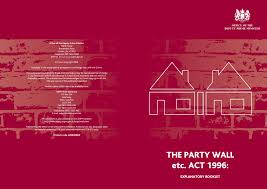 Https Www Manchester Gov Uk Download Downloads Id 2594 Party Wall Act 1996 Pdf