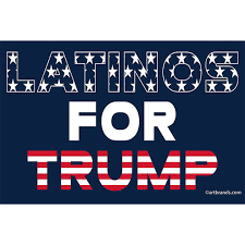 Bumper Sticker Latinos For Trump Artopia