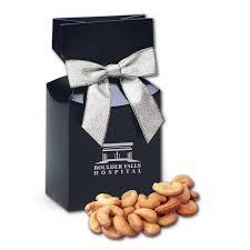 extra fancy jumbo cashews in navy gift