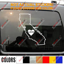 California State Outline Home Love Heart Cali Decal Sticker Car Vinyl Pick Size Color Car Stickers Aliexpress
