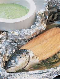 Foil-baked Whole Fresh Salmon with ...