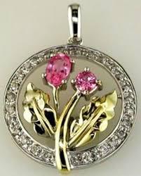 59ct diamond aaa pink sapphire 14kt