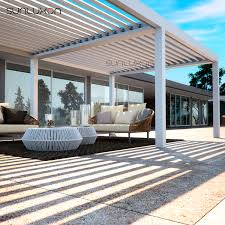 aluminum louvered roof patio canopy