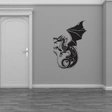 Dragon Wall Sticker Vinyl Home Decor Living Room Background Wall Decals Removable Interior Decoration Kids Boys Room Murals 4564 Popokaearasya34