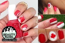 canada day nail art 9 patriotic red