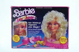 barbie styling head color change