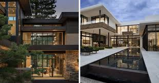 modern house designs with elegant glass