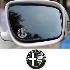 2pcs Badge Glass Effect Car Styling Wing Mirror Decal Stickers For Alfa Romeo Wish