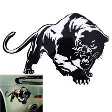 Fiery Wild Panther Hunting Body Decal Car Tiger Stickers Motorcycle Decorations