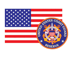 American Flag With Coast Guard Reserve Emblem Uscg Reserve Logo Vinyl Decal Sticker For Cars Trucks Laptops Etc 3 22x5 Morale Tags