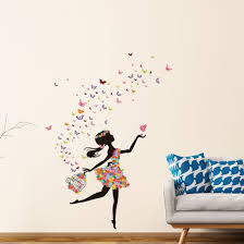 Shop Butterfly Flower Removable Wall Sticker Decal Mural Christmas Room Wallpaper 35 4 X23 6 On Sale Overstock 25455132