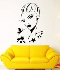 Vinyl Wall Decal Beautiful Woman Beauty Hair Salon Girl Makeup Sticker Wallstickers4you