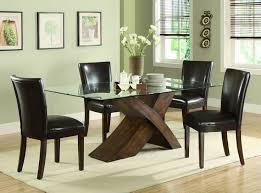 casual dinette set glass dining table