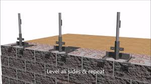 Steel Post In Retaining Wall Finish Youtube