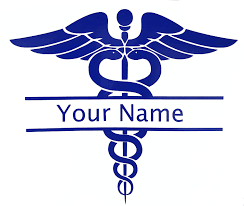 Amazon Com Custom Caduceus Name Nurse Decal Personalized Nursing Rn Bumper Sticker For Walls Tumblers Laptops Car Windows Perfect Nursing Lpn Cna Graduation Gift Handmade
