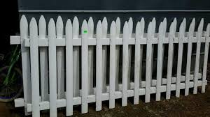 2 White Poly Picket Fence Panels 36 Tall One Hash Auctions
