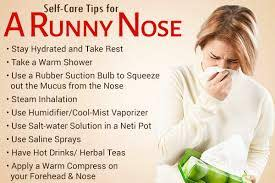 runny nose how to stop it and home