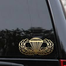 Airborne Jump Wings Decal Sticker Paratrooper Parachute Military Marines Army Lifted Trucks Custom Trucks Trucks Lifted Diesel