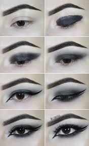 step by step goth smoky eye