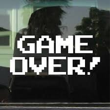 Game Over Arcade 8 Bit Video Game Vinyl Decal Sticker Ebay