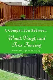 Wood Fence Alternatives Vinyl And Trex Fencing 1001 Gardens