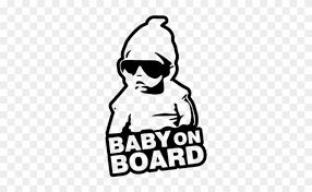 Car Decals Stickers Jdm Baby On Board 1444382613 80a4e78a Baby On Board Sticker Free Transparent Png Clipart Images Download