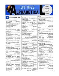 alphabetical listings abd