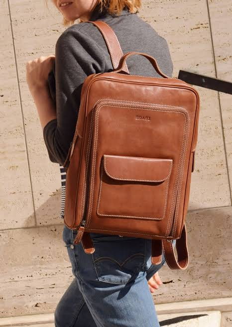 Image result for A chic leather backpack you can carry to work or class