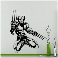 Superhero Theme Wolverine Art Wall Sticker Vinyl Home Decor Kids Boys Room Interior Design Decals Cartoon Comics Wallpaper Art Deco Wall Stickers Art Stickers For Walls From Onlinegame 11 85 Dhgate Com