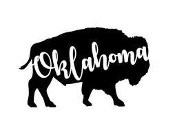 Vinyl Decal Oklahoma Buffalo Decal Vinyl Decal Car Decal Etsy
