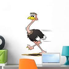 Amazon Com Wallmonkeys Fot 24881491 24 Wm95109 Ostrich Running Peel And Stick Wall Decals 24 In H X 19 In W Medium Home Kitchen