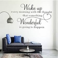 Wake Up Wonderful Removable Wall Sticker Home Decoration Bedroom Vinyl Decal Diy Wall Art Size 41x29cm 57x40cm Wish
