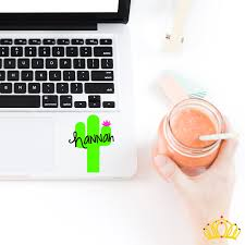 Personalized Cactus Decal Dash Of Flair