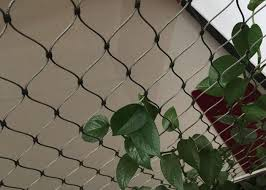 Stainless Steel Wire Rope Plant Trellis Systems Climbing Net Customized Size