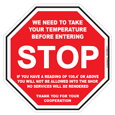 Stop Need To Take Temperature 9 X 9 Floor Wall Stop Sign Decal Packs
