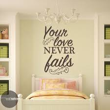 Your Love Never Fails Vinyl Wall Decal Sticker Ebay