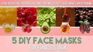 5 diy face masks for flawless skin