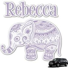 Baby Elephant Graphic Car Decal Personalized Youcustomizeit