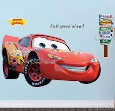 Extra Large Disney Cars Lightning Mcqueen Wall Stickers Kids Boys Bedroom Decal Ebay