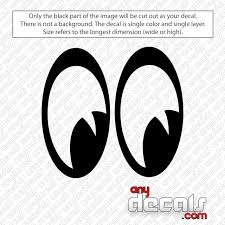 Moon Eyes Decal Sticker Anydecals Com