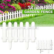 12 24pcs Garden Border Fencing Fence Pannels Outdoor Landscape Decor Edging Yard Ebay