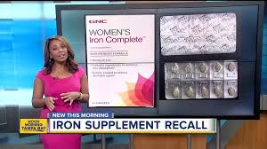 gnc recalls women s iron plete