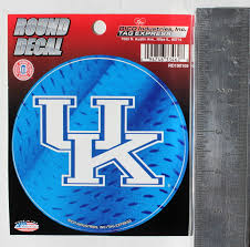 University Of Kentucky Wildcats Round Decal Car Window Sticker 4 5 College For Sale Online