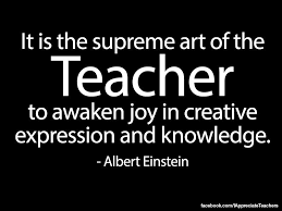 albert einstein teaching quote it is the supreme art of the